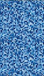 Manasquan - Blue Mosaic Print<br> Available in: 28  Mil Wall / 28 Mil Floor